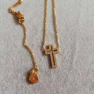 Michale kors  gold cross short pendant necklace